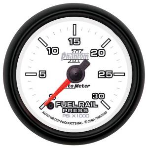 AutoMeter - AutoMeter Gauge; Rail Pressure (RAM 6.7L); 2 1/16in.; 30kpsi; Digital Stepper Motor; Phant 7593
