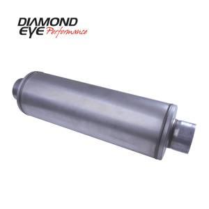 Engine & Performance - Exhaust Parts - Diamond Eye Performance - Diamond Eye Performance PERFORMANCE DIESEL EXHAUST PART-5in. ALUMINIZED PERFORMANCE LOUVERED MUFFLER-26i 460150