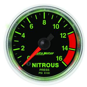 Nitrous Kits & Parts - Nitrous Kit Parts - AutoMeter - AutoMeter Gauge; Nitrous Pressure; 2 1/16in.; 1600psi; Digital Stepper Motor; GS 3874