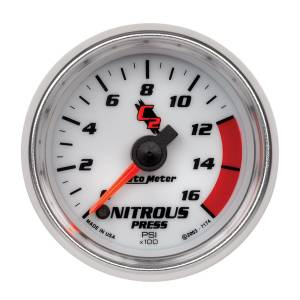 Nitrous Kits & Parts - Nitrous Kit Parts - AutoMeter - AutoMeter Gauge; Nitrous Pressure; 2 1/16in.; 1600psi; Digital Stepper Motor; C2 7174