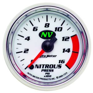 Nitrous Kits & Parts - Nitrous Kit Parts - AutoMeter - AutoMeter Gauge; Nitrous Pressure; 2 1/16in.; 1600psi; Digital Stepper Motor; NV 7374