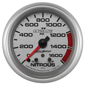 Nitrous Kits & Parts - Nitrous Kit Parts - AutoMeter - AutoMeter Gauge; Nitrous Press; 2 5/8in.; 1600psi; Stepper Motor w/Peak/Warn; Ultra-Lite I 7774