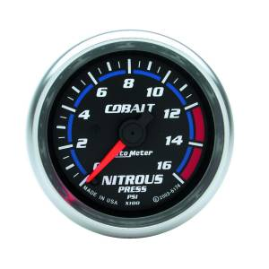 Nitrous Kits & Parts - Nitrous Kit Parts - AutoMeter - AutoMeter Gauge; Nitrous Press; 2 5/8in.; 1600psi; Stepper Motor w/Peak/Warn; Cobalt 7974