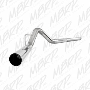 """2008-2010 Ford 6.4L Powerstroke - Exhaust - MBRP Exhaust - MBRP Exhaust 4"""" Filter Back, Single, No Muffler, T409 S6242SLM"""
