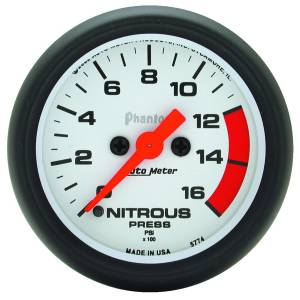 Nitrous Kits & Parts - Nitrous Kit Parts - AutoMeter - AutoMeter Gauge; Nitrous Pressure; 2 1/16in.; 1600psi; Digital Stepper Motor; Phantom 5774
