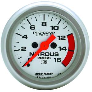 Nitrous Kits & Parts - Nitrous Kit Parts - AutoMeter - AutoMeter Gauge; Nitrous Pressure; 2 1/16in.; 1600psi; Digital Stepper Motor; Ultra-Lite 4374