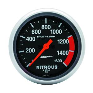 Nitrous Kits & Parts - Nitrous Kit Parts - AutoMeter - AutoMeter Gauge; Nitrous Press; 2 5/8in.; 1600psi; Digital Stepper Motor; Sport-Comp 3574
