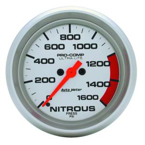 Nitrous Kits & Parts - Nitrous Kit Parts - AutoMeter - AutoMeter Gauge; Nitrous Press; 2 5/8in.; 1600psi; Digital Stepper Motor; Ultra-Lite 4474