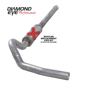 2006-2007 GM 6.6L LLY/LBZ Duramax - Exhaust - Diamond Eye Performance - Diamond Eye Performance 2006-2007.5 CHEVY/GMC 6.6L DURAMAX 2500/3500 (ALL CAB AND BED LENGTHS) 4in. ALUM K4122A-RP