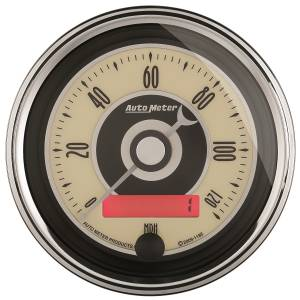 AutoMeter - AutoMeter Gauge; Speedometer; 3 3/8in.; 120mph; Elec. Programmable; Cruiser AD 1187 - Image 1
