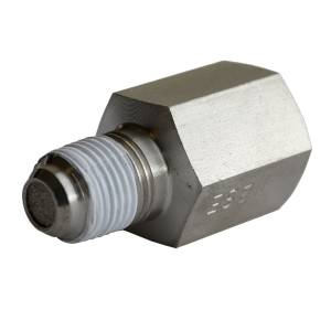 Air/Fuel - Fuel System Parts - AutoMeter - AutoMeter Fitting; Snubber Adapter;-4AN Male to 1/8in. NPT Male; Steel; for Fuel Pressure 3279