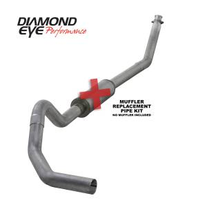 1998.5-2002 Dodge 5.9L 24V Cummins - Exhaust - Diamond Eye Performance - Diamond Eye Performance 1994-2002 DODGE 5.9L CUMMINS 2500/3500 (ALL CAB AND BED LENGTHS)-4in. ALUMINIZED K4212A-RP