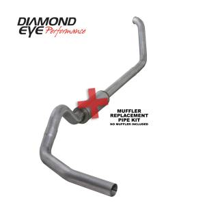 1999-2003 Ford 7.3L Powerstroke - Exhaust - Diamond Eye Performance - Diamond Eye Performance 1999-2003.5 FORD 7.3L POWERSTROKE F250/F350 (ALL CAB AND BED LENGTHS) 4in. ALUMI K4318A-RP