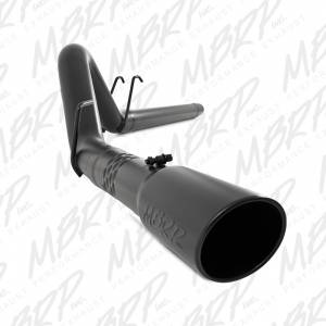 """2008-2010 Ford 6.4L Powerstroke - Exhaust - MBRP Exhaust - MBRP Exhaust 4"""" Filter Back, Single Side Exit, Black Coated S6242BLK"""