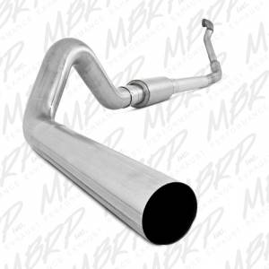 "MBRP Exhaust - MBRP Exhaust 4"" Turbo Back, Single Side Off-Road (Aluminized downpipe) S6218P"