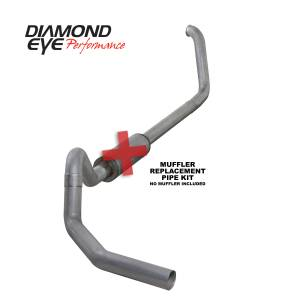 1999-2003 Ford 7.3L Powerstroke - Exhaust - Diamond Eye Performance - Diamond Eye Performance 1999.5-2003.5 FORD 7.3L POWERSTROKE F250/F350 CAB/CHASSIS-4in. ALUMINIZED-PERFOR K4326A-RP