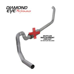 1999-2003 Ford 7.3L Powerstroke - Exhaust - Diamond Eye Performance - Diamond Eye Performance 1999.5-2003.5 FORD 7.3L POWERSTROKE F550 ROLLOVER-4in. ALUMINIZED-PERFORMANCE DI K4330A-RP