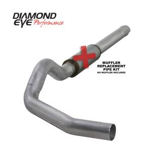 Engine & Performance - Exhaust  Systems - Diamond Eye Performance - Diamond Eye Performance 2004.5-2007.5 DODGE 5.9L CUMMINS 2500/3500 (ALL CAB AND BED LENGTHS)-5in. ALUMIN K5244A-RP