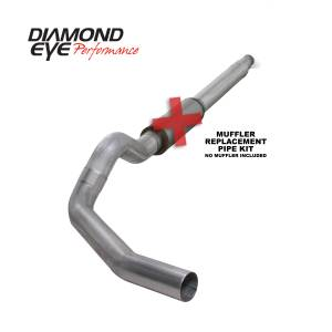 Diamond Eye Performance - Diamond Eye Performance 1994-1997.5 FORD 7.3L POWERSTROKE F250/F350 (ALL CAB AND BED LENGTHS) 5in. ALUMI K5316A-RP