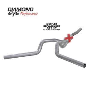 Engine & Performance - Exhaust  Systems - Diamond Eye Performance - Diamond Eye Performance 2006-2007.5 CHEVY/GMC 6.6L DURAMAX 2500/3500 (ALL CAB AND BED LENGTHS) 4in. ALUM K4124A-RP