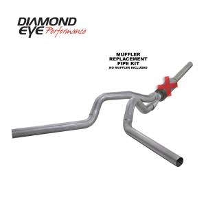 Engine & Performance - Exhaust  Systems - Diamond Eye Performance - Diamond Eye Performance 2004.5-2007.5 DODGE 5.9L CUMMINS 2500/3500 (ALL CAB AND BED LENGTHS)-4in. ALUMIN K4236A-RP