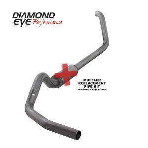 1999-2003 Ford 7.3L Powerstroke - Exhaust - Diamond Eye Performance - Diamond Eye Performance 1999-2003.5 FORD 7.3L POWERSTROKE F250/F350 (ALL CAB AND BED LENGTHS) 4in. 409 S K4318S-RP