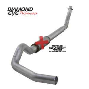 Engine & Performance - Exhaust  Systems - Diamond Eye Performance - Diamond Eye Performance 1994-2002 DODGE 5.9L CUMMINS 2500/3500 (ALL CAB AND BED LENGTHS)-5in. ALUMINIZED K5216A-RP