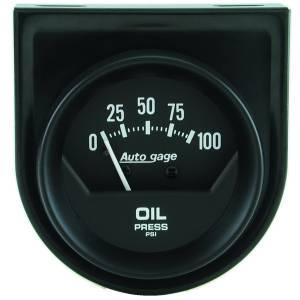 Accessories - Gauges & Pods - AutoMeter - AutoMeter Gauge Console; Oil Press; 2in.; 100psi; Mech; Short Sweep; Black; AutoGage 2360