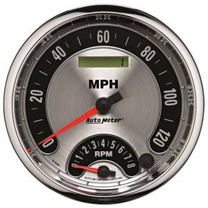 AutoMeter - AutoMeter Gauge; Tach/Speedo; 5in.; 160mph/8k RPM; Elec. Program.; Amer. Muscle 1295