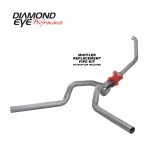 1999-2003 Ford 7.3L Powerstroke - Exhaust - Diamond Eye Performance - Diamond Eye Performance 1999-2003.5 FORD 7.3L POWERSTROKE F250/F350 (ALL CAB AND BED LENGTHS) 4in. ALUMI K4320A-RP