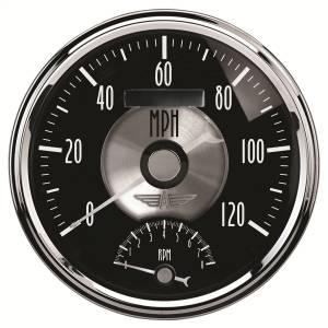 AutoMeter - AutoMeter Gauge; Tach/Speedo; 5in.; 120mph/8k RPM; Elec. Program; Prestige Blk. Diamond 2091
