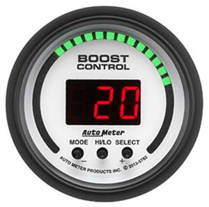 AutoMeter Gauge; Boost Controller; 2 1/16in.; 30inHg-30psi; incl. solenoid; Digital; Phant 5782