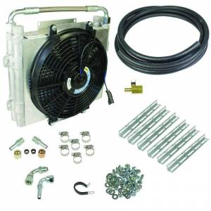 Drivetrain & Suspension - Transmission - BD Diesel - BD Diesel Xtrude Double Stacked Transmission Cooler Kit - Universial 5/8in Tubing 1030606-DS-58