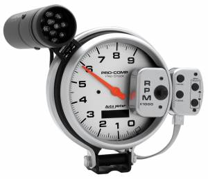 AutoMeter - AutoMeter Gauge; Tach; 5in.; 9k RPM; Pro-Stock Pedestal w/Super Lite/Peak Mem; Ultra-Lite 6832