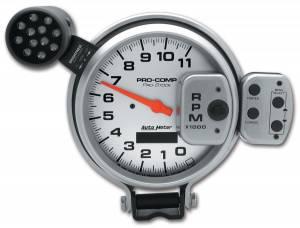 AutoMeter - AutoMeter Gauge; Tach; 5in.; 11k RPM; Pro-Stock Pedestal w/Super Lite/Peak Mem; Ultra-Lite 6834