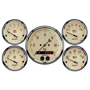 AutoMeter - AutoMeter Gauge Kit; 5 pc.; 3 3/8in./2 1/16in.; GPS Speedometer; Antique Beige 1850