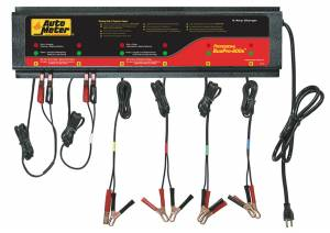 Engine & Performance - Electrical & Sensors - AutoMeter - AutoMeter 6 Station Automated Battery Charger; 5 Amps per Station; 115V BUSPRO-600S