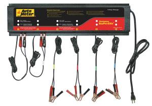 Engine & Performance - Electrical & Sensors - AutoMeter - AutoMeter 6 Station Automated Battery Charger; 5 Amps per Station; 220V BUSPRO-620S