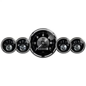 AutoMeter - AutoMeter Gauge Kit; 5 pc.; 3 3/8in./2 1/16in.; Elec. Speedo w/wheel odo; Prestige Blk. Di 2003