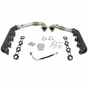 2008-2010 Ford 6.4L Powerstroke - Turbo Chargers & Components - BD Diesel - BD Diesel UpPipes - Exhaust Manifolds Kit - Ford 2008-2010 6.4L 1041481