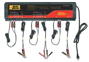 AutoMeter - AutoMeter 6 Station Automated Battery Charger; 5 Amps per Station; 115V AGM BUSPRO-660