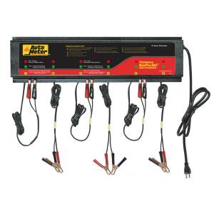 AutoMeter - AutoMeter 6 Station Automated Battery Charger; 5 Amps per Station; 220V AGM BUSPRO-662