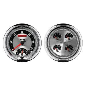 Interior Accessories - Gauges & Pods - AutoMeter - AutoMeter Gauge Kit; 2 pc.; Quad/Tach/Speedo; 5in.; American Muscle 1205