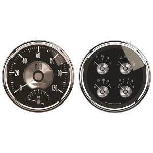 AutoMeter - AutoMeter Gauge Kit; 2 pc.; Quad/Tach/Speedo; 5in.; Prestige Blk. Diamond 2005