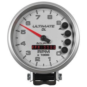 Interior Accessories - Gauges & Pods - AutoMeter - AutoMeter Gauge; Tach; 5in.; 9k RPM; Pedestal; Datalogging; Ultimate DL Playback; Silver 6894