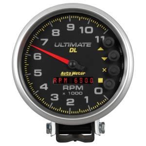 Interior Accessories - Gauges & Pods - AutoMeter - AutoMeter Gauge; Tach; 5in.; 11k RPM; Pedestal; Datalogging; Ultimate DL Playback; Silver 6895