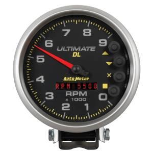 AutoMeter - AutoMeter Gauge; Tach; 5in.; 9k RPM; Pedestal; Datalogging; Ultimate DL Playback; Black 6896