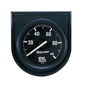 Accessories - Gauges & Pods - AutoMeter - AutoMeter Gauge Console; Oil Press; 2in.; 100psi; Blk Dial; Blk Bezel; AutoGage 2332