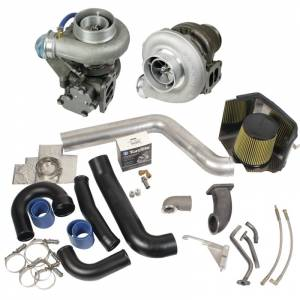 Engine & Performance - Turbo Chargers & Components - BD Diesel - BD Diesel Super B Twin Turbo Kit w/FMW Billet Wheel on Secondary - Dodge 1994-1998 12-vlv 1045310