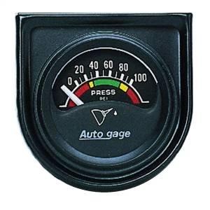 Accessories - Gauges & Pods - AutoMeter - AutoMeter Gauge Console; Oil Press; 1.5in.; 100psi; Elec; Blk Dial; Blk Bezel; AutoGage 2354